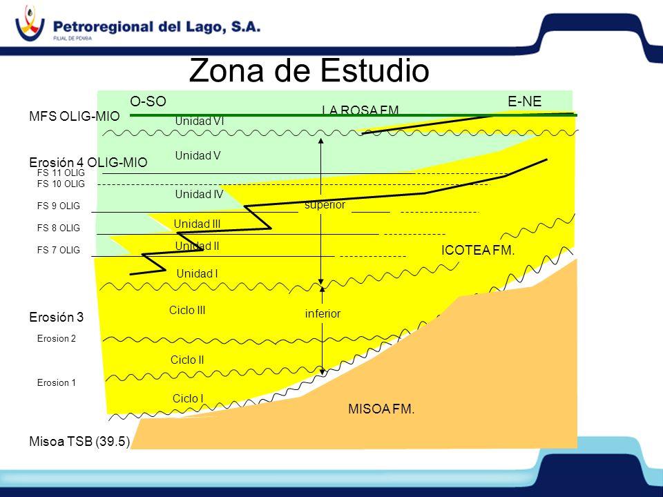 Zona de Estudio FS 11 OLIG FS 10 OLIG FS 9 OLIG FS 8 OLIG FS 7 OLIG Erosion 2 Erosion 1 Unidad VI Unidad IV Unidad III Unidad II Unidad I Ciclo III Ci