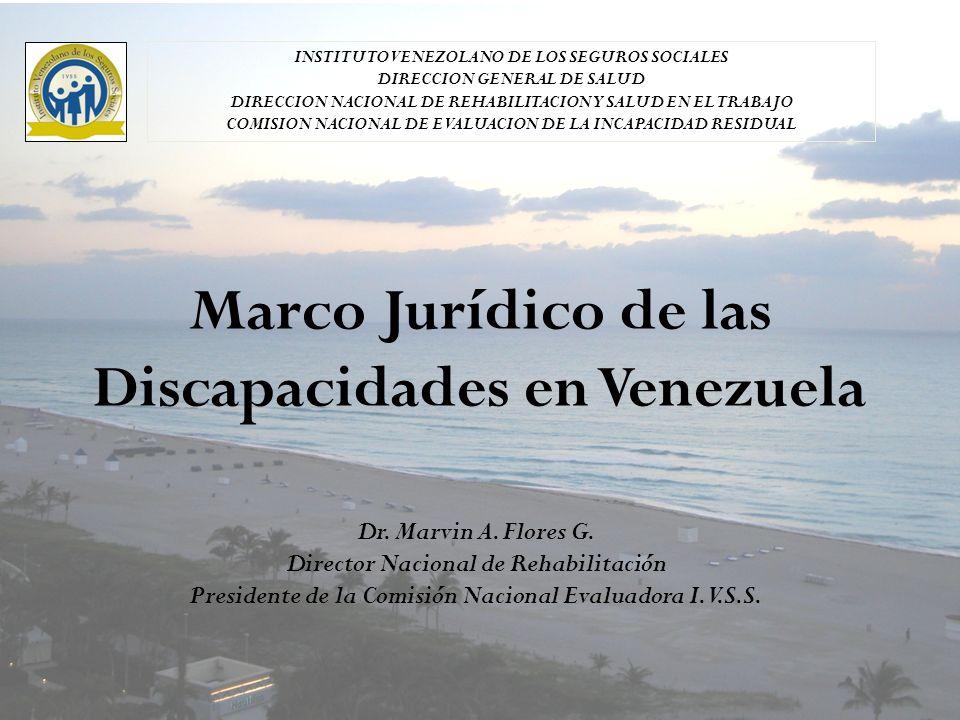 Marco Jurídico de las Discapacidades en Venezuela Dr.