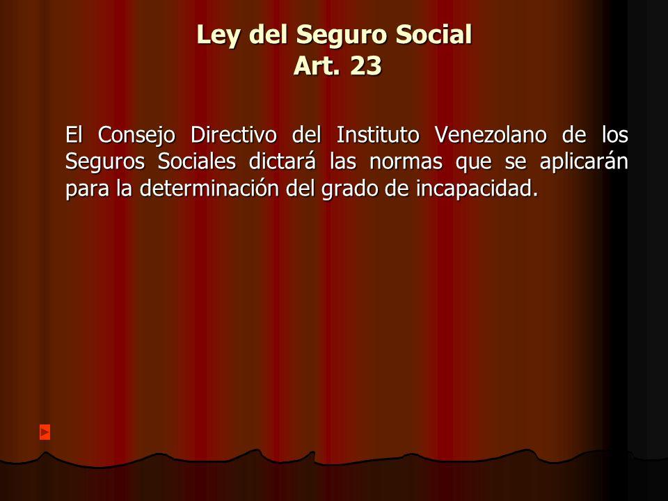 Ley del Seguro Social Art.