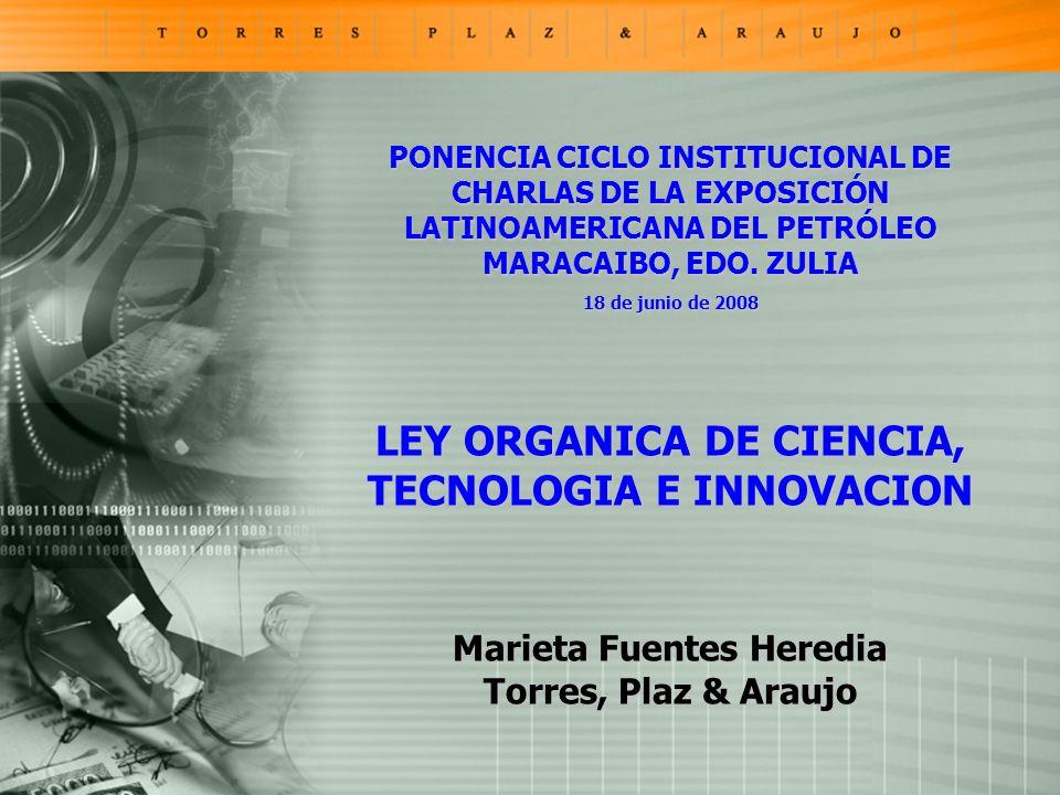 PONENCIA CICLO INSTITUCIONAL DE CHARLAS DE LA EXPOSICIÓN LATINOAMERICANA DEL PETRÓLEO MARACAIBO, EDO.