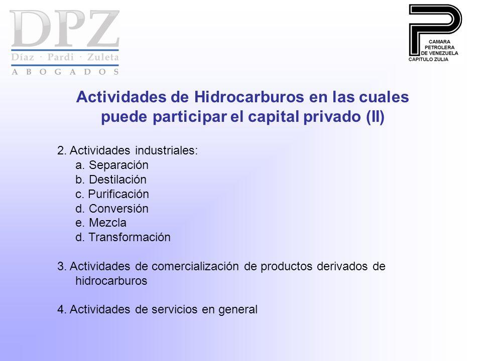 2.Actividades industriales: a. Separación b. Destilación c.