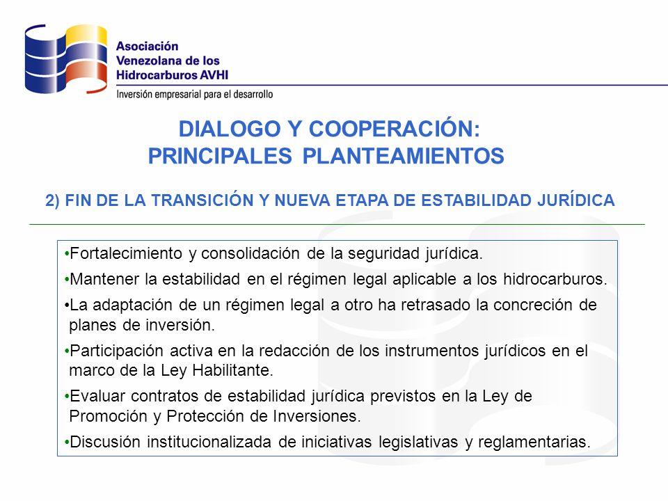2) FIN DE LA TRANSICIÓN Y NUEVA ETAPA DE ESTABILIDAD JURÍDICA Fortalecimiento y consolidación de la seguridad jurídica. Mantener la estabilidad en el