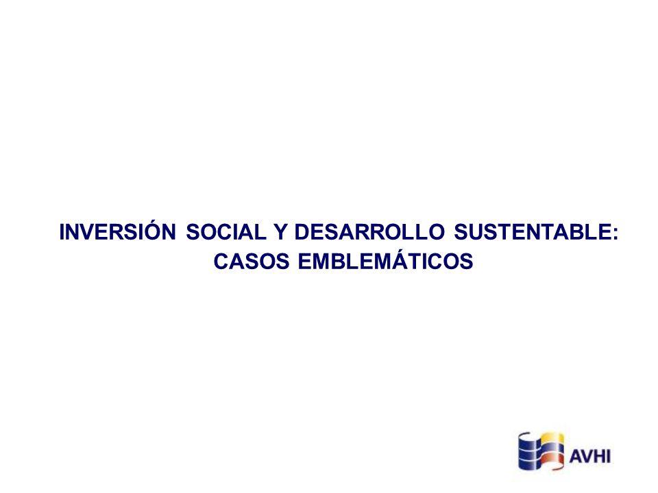 INVERSIÓN SOCIAL Y DESARROLLO SUSTENTABLE: CASOS EMBLEMÁTICOS