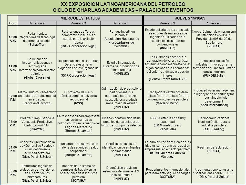 MIÉRCOLES 14/10/09JUEVES 15/10/09 HoraAmérica 2América 3América 4 América 2América 3 10:00 A.M.