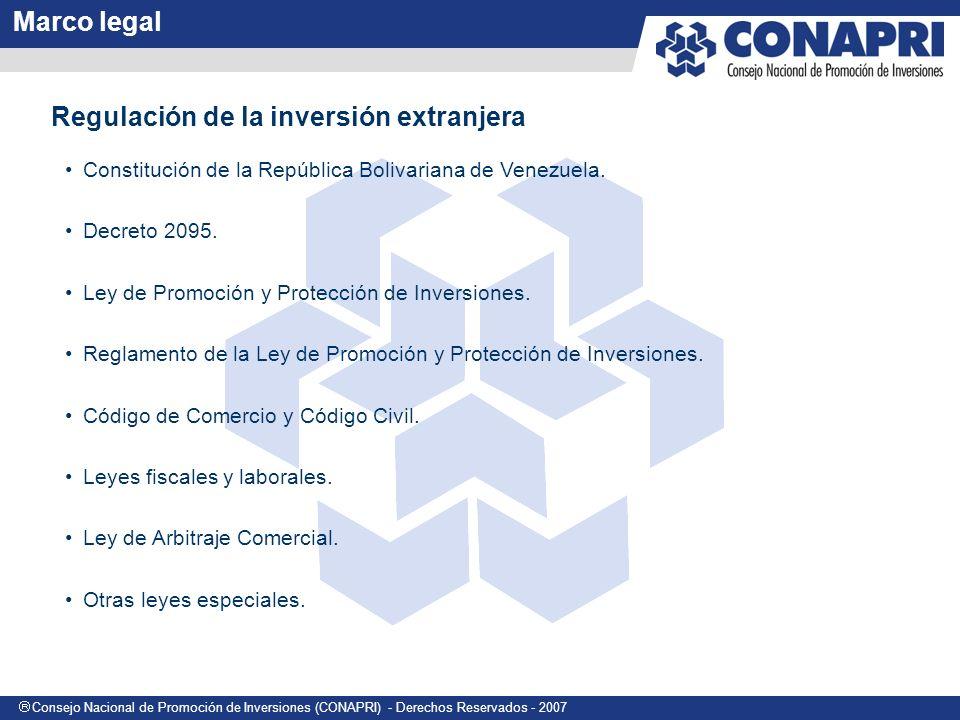 Consejo Nacional de Promoción de Inversiones (CONAPRI) - Derechos Reservados - 2007 Constitución Nacional (Art.