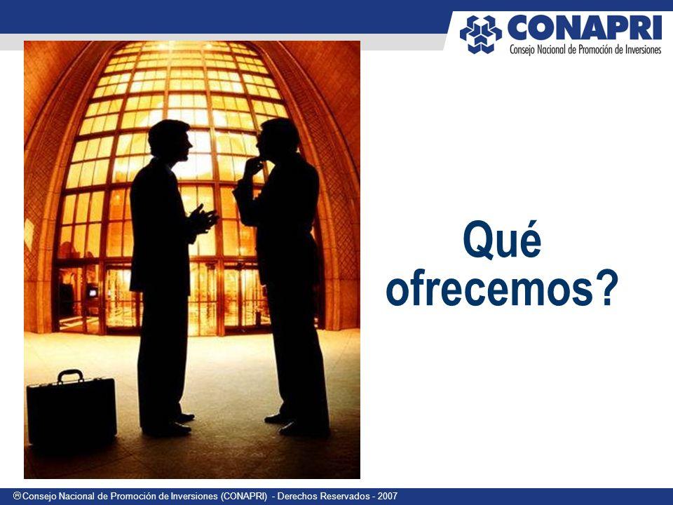 Consejo Nacional de Promoción de Inversiones (CONAPRI) - Derechos Reservados - 2007 Qué ofrecemos?