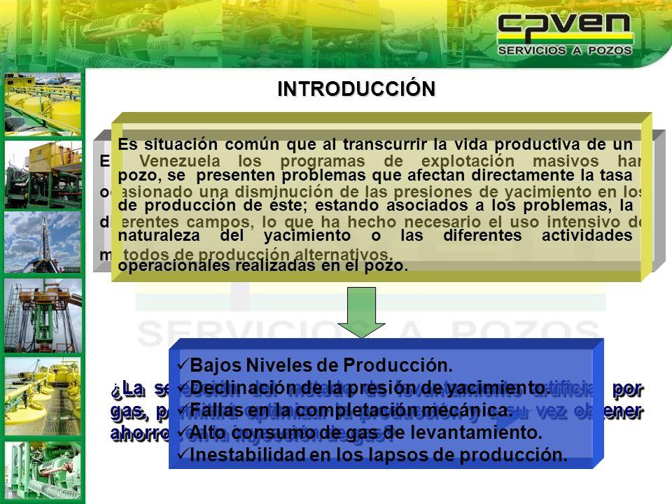 ¿La selección del método de levantamiento artificial por gas, permitirá optimizar la producción y a su vez obtener ahorros en la inyección de gas? En