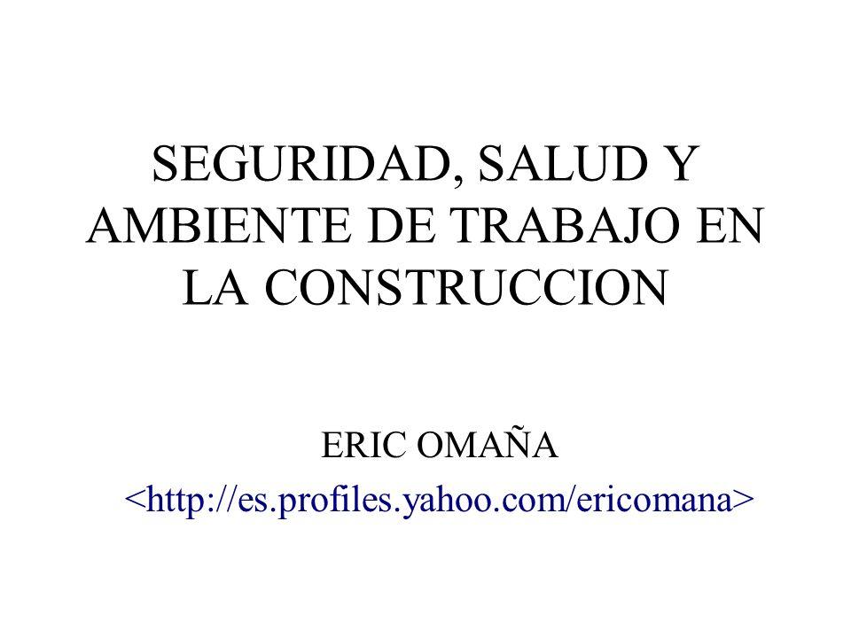 SEGURIDAD, SALUD Y AMBIENTE DE TRABAJO EN LA CONSTRUCCION ERIC OMAÑA