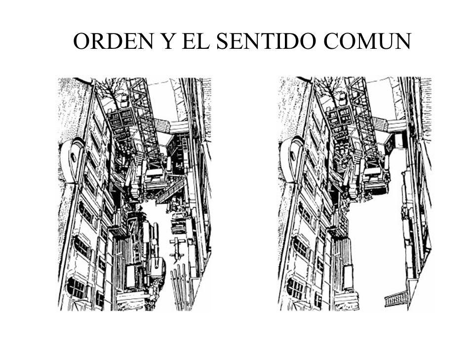 ORDEN Y EL SENTIDO COMUN