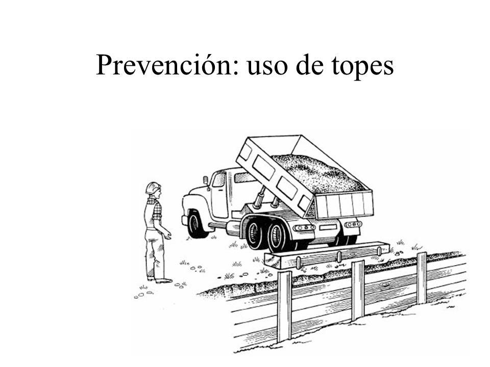 Prevención: uso de topes
