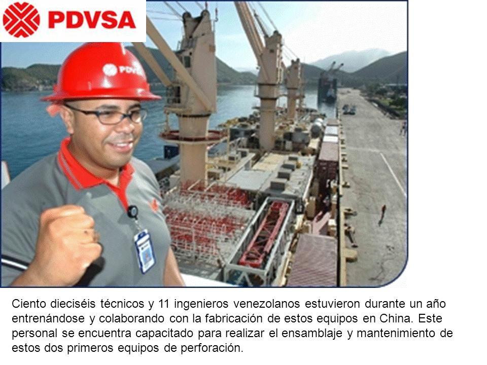 Ciento dieciséis técnicos y 11 ingenieros venezolanos estuvieron durante un año entrenándose y colaborando con la fabricación de estos equipos en China.