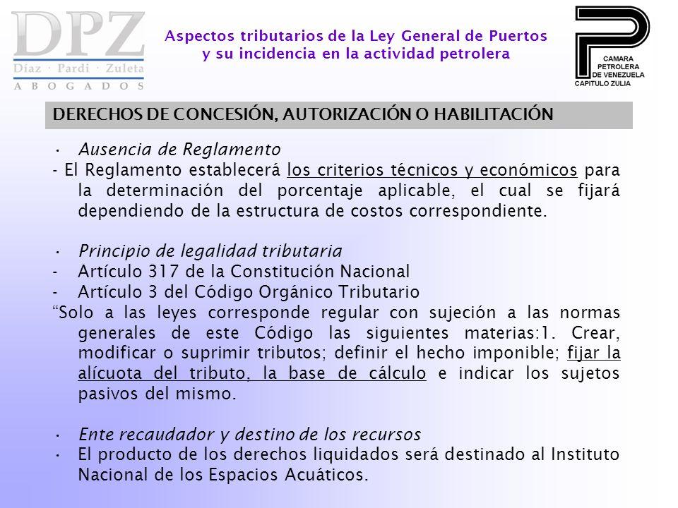 Ausencia de Reglamento - El Reglamento establecerá los criterios técnicos y económicos para la determinación del porcentaje aplicable, el cual se fija