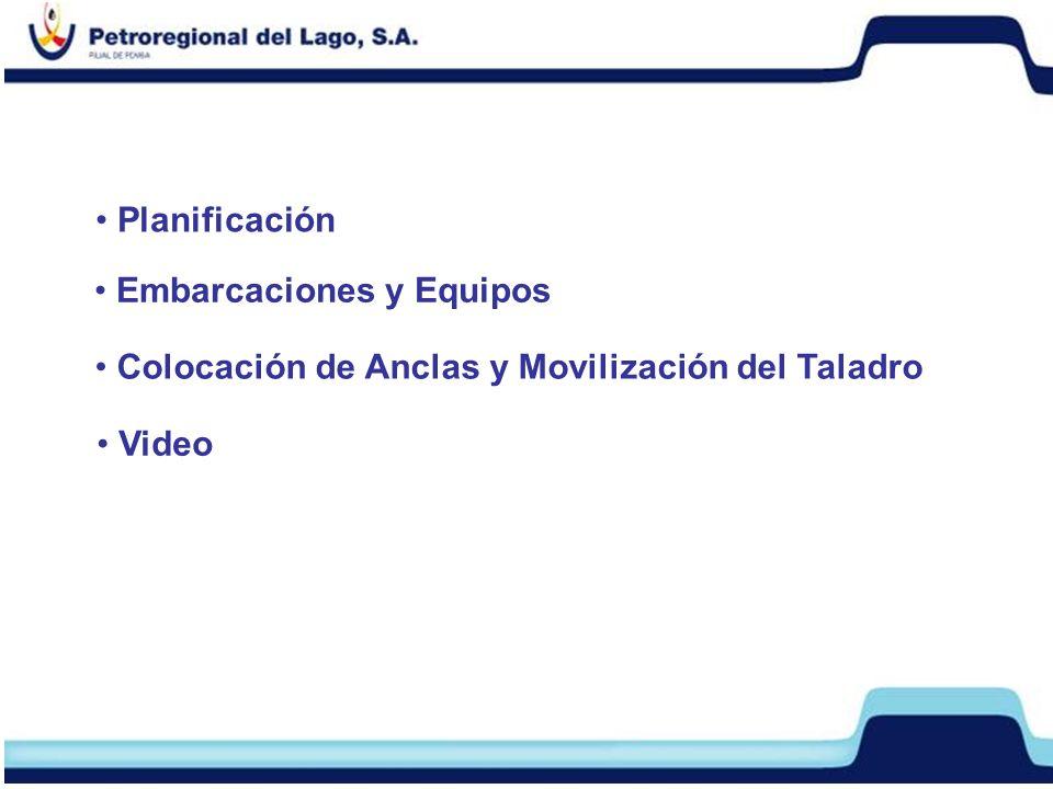 Planificación Embarcaciones y Equipos Colocación de Anclas y Movilización del Taladro Video