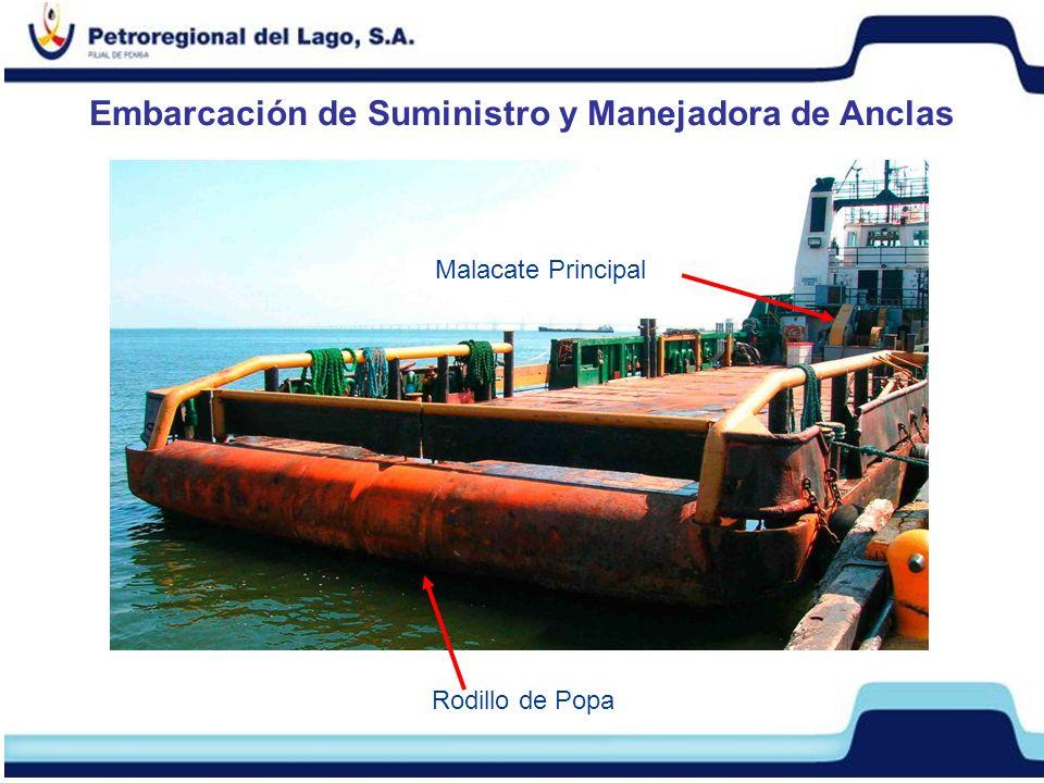 Embarcación de Suministro y Manejadora de Anclas Rodillo de Popa Malacate Principal