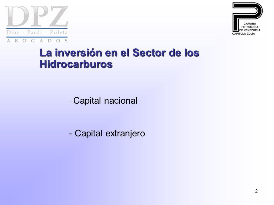 2 La inversión en el Sector de los Hidrocarburos - Capital nacional - Capital extranjero