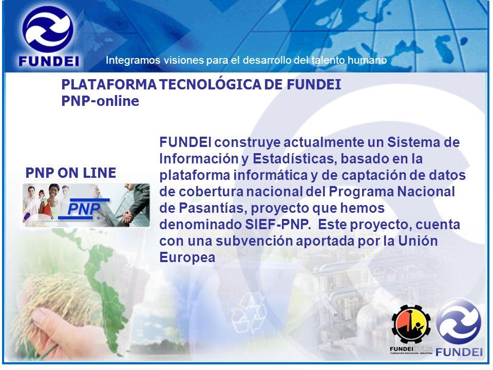 FUNDEI construye actualmente un Sistema de Información y Estadísticas, basado en la plataforma informática y de captación de datos de cobertura nacion