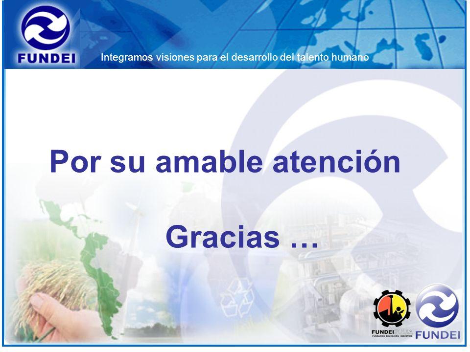 Por su amable atención Gracias …