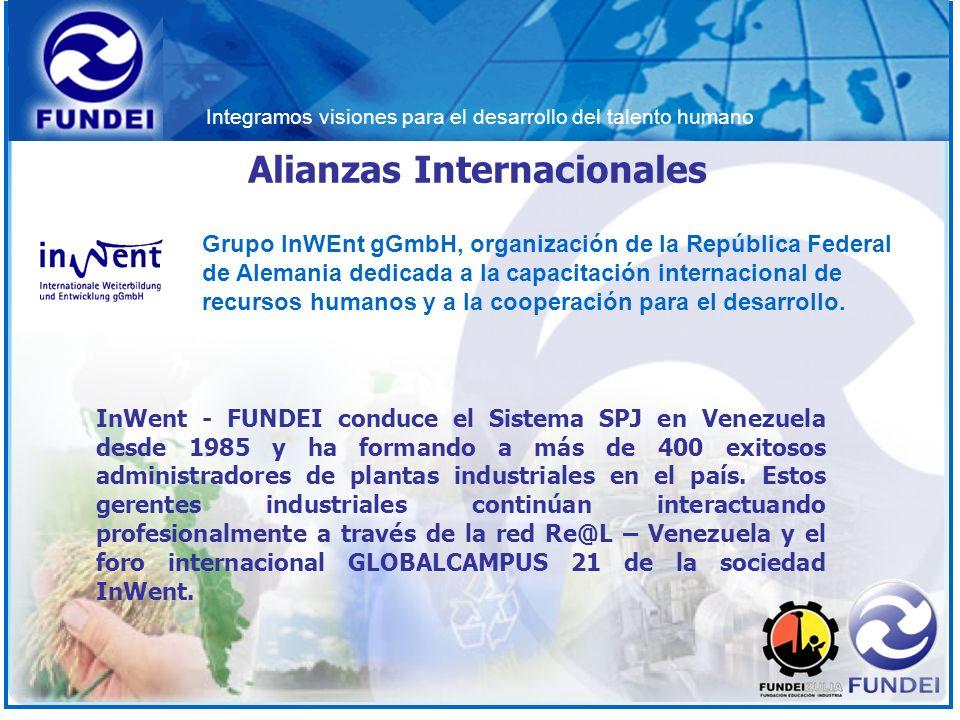 Integramos visiones para el desarrollo del talento humano InWent - FUNDEI conduce el Sistema SPJ en Venezuela desde 1985 y ha formando a más de 400 ex