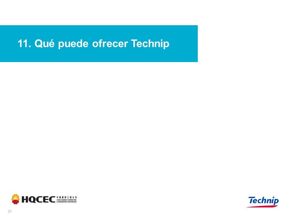 11. Qué puede ofrecer Technip 31