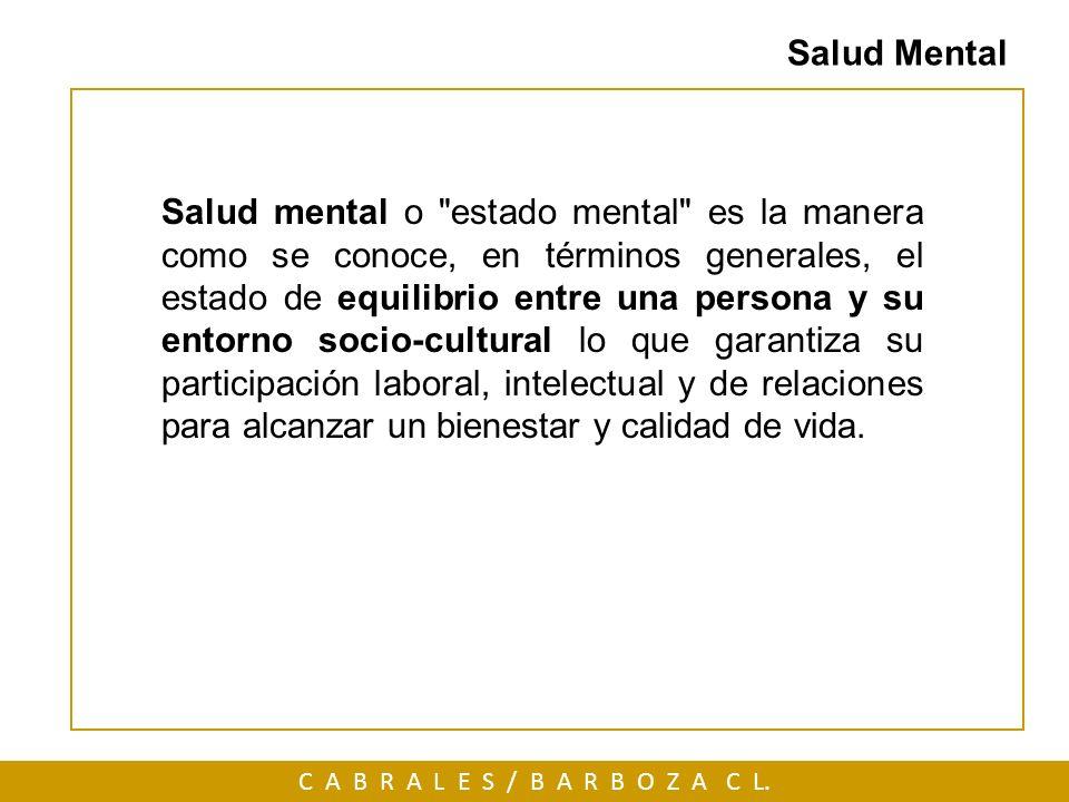 Salud mental o