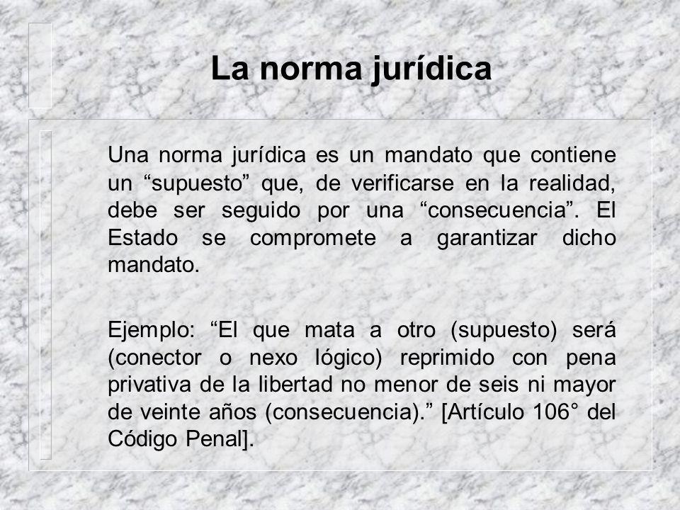 El objetivo: La ley 1. ¿Qué es una norma jurídica? 2. ¿Qué es una ley? 3. ¿Qué clases de normas dicta el Congreso de la República?