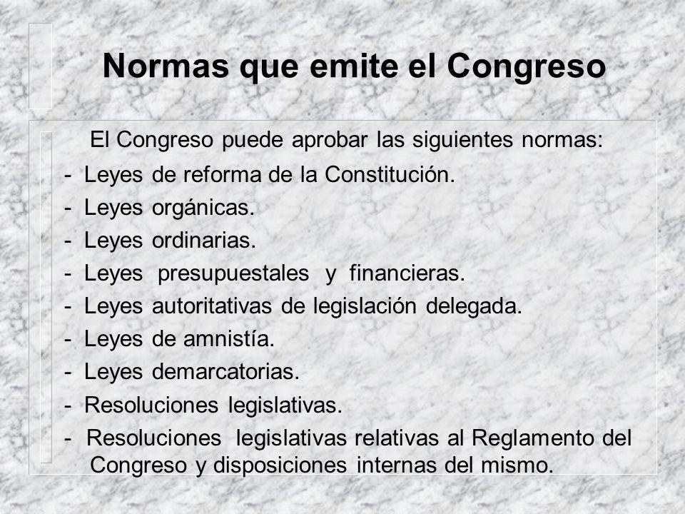La ley La Constitución contiene diversas normas jurídicas, consideradas de primer orden. Ello significa que, cualquier norma que la contradiga no debe