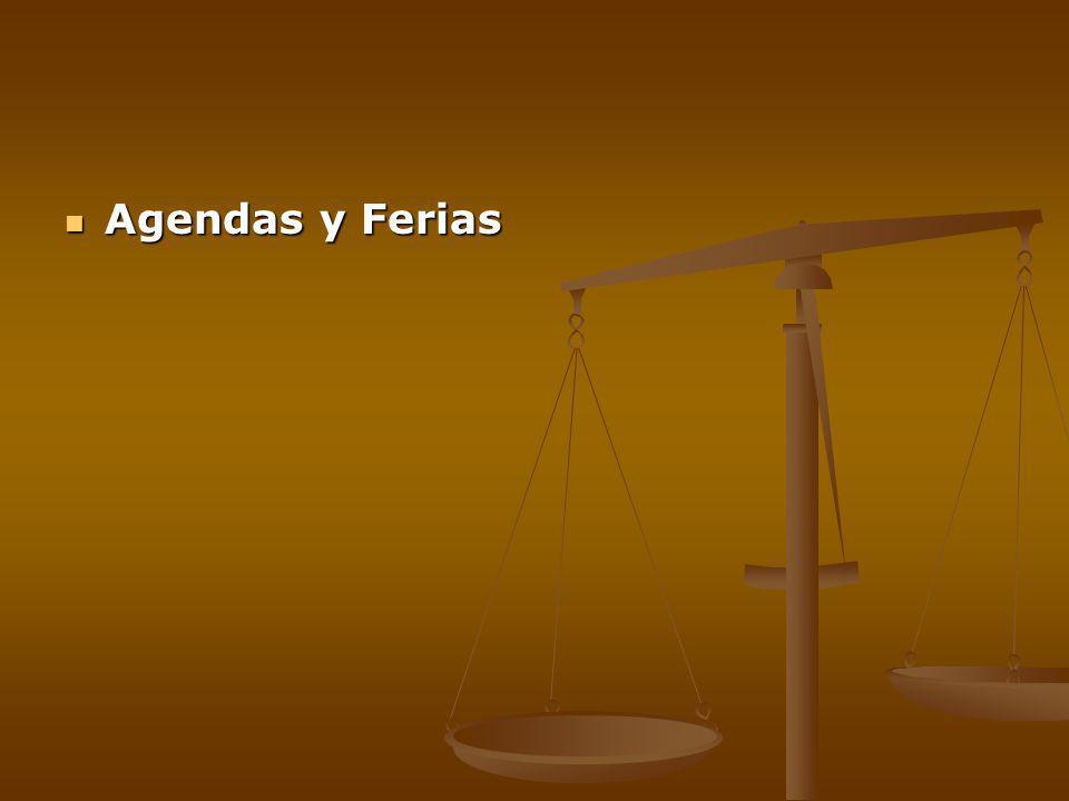 Agendas y Ferias Agendas y Ferias