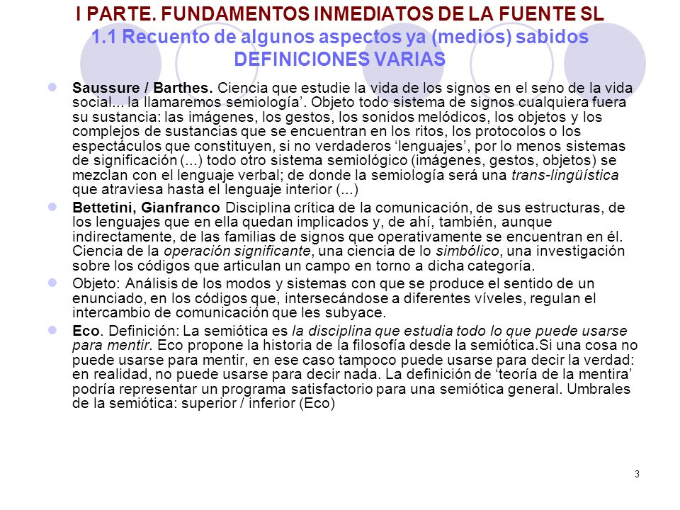 34 3 PARTE TODO LO DICHO EN EL PROYECTO GUCOM-REDECOM La fuente semio-lingüística en el proyecto REDECOM- GUCOM Recuperar la información de 100 libros.