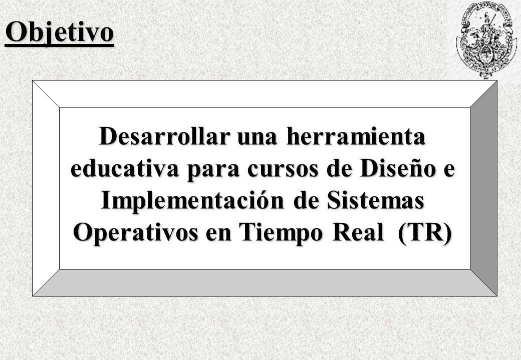 Objetivo Desarrollar una herramienta educativa para cursos de Diseño e Implementación de Sistemas Operativos en Tiempo Real (TR)