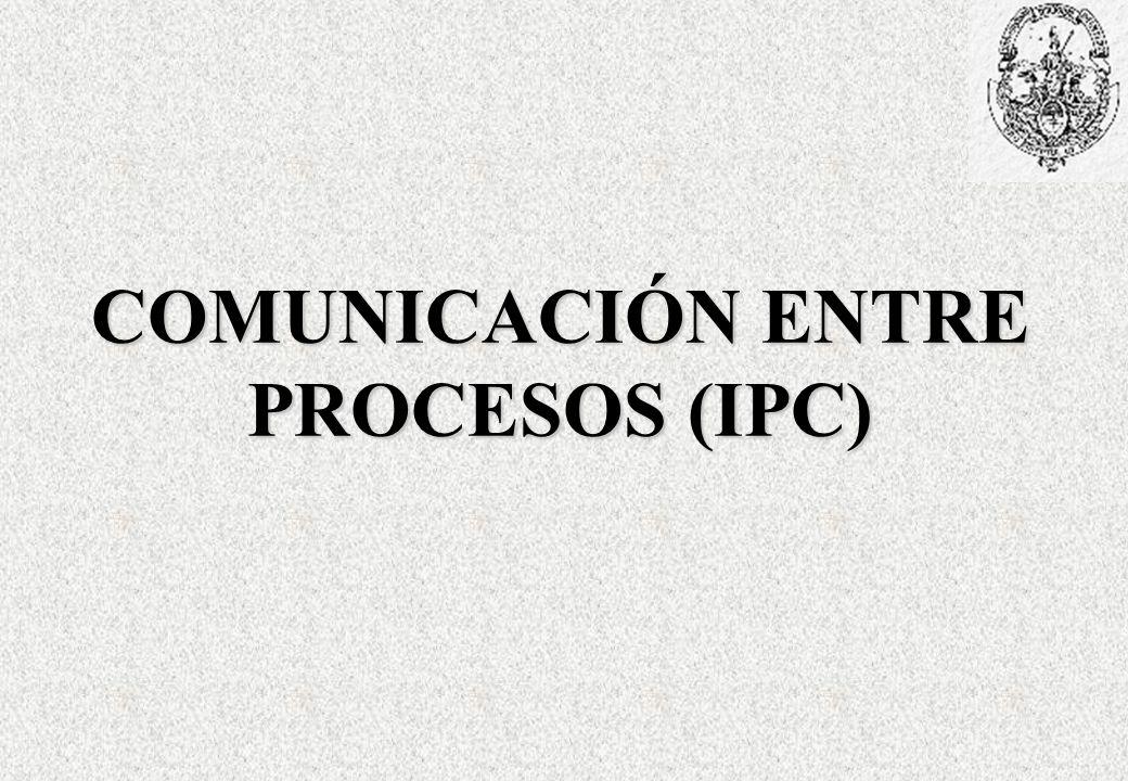 COMUNICACIÓN ENTRE PROCESOS (IPC)
