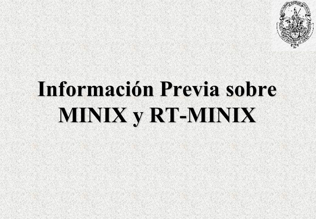 Información Previa sobre MINIX y RT-MINIX