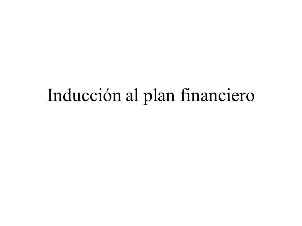 Inducción al plan financiero