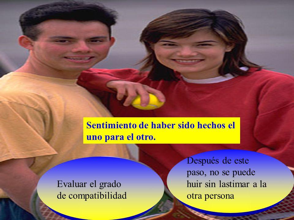 Sondear las posibilidades de casamiento Tentativas de casamiento Es común oir Cuando terminemos de estudiar...