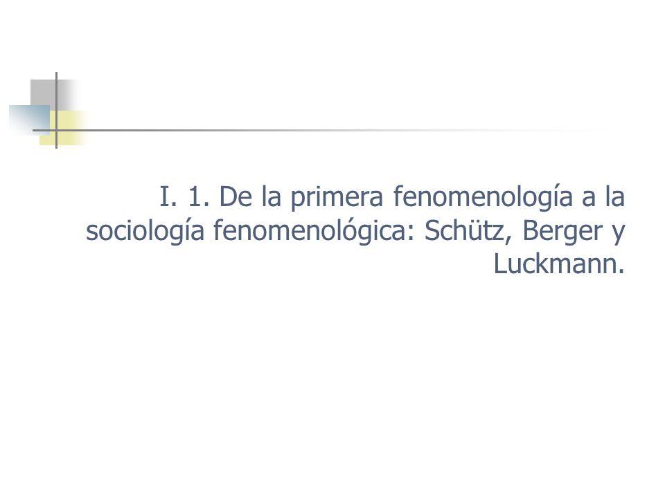 Sociología y fenomenología Ciencia de la sociedad inspirada en la fenomenología.
