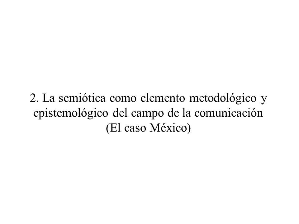 2. La semiótica como elemento metodológico y epistemológico del campo de la comunicación (El caso México)
