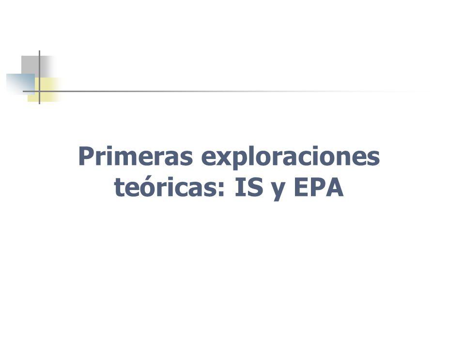 Primeras exploraciones teóricas: IS y EPA