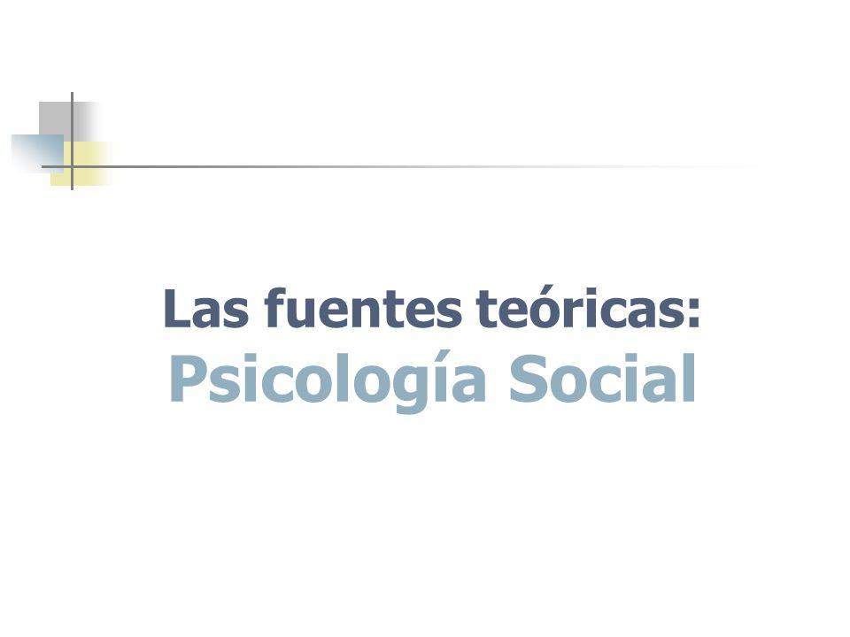 Las fuentes teóricas: Psicología Social