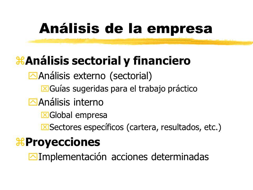 Análisis de la empresa zAnálisis sectorial y financiero yAnálisis externo (sectorial) xGuías sugeridas para el trabajo práctico yAnálisis interno xGlo