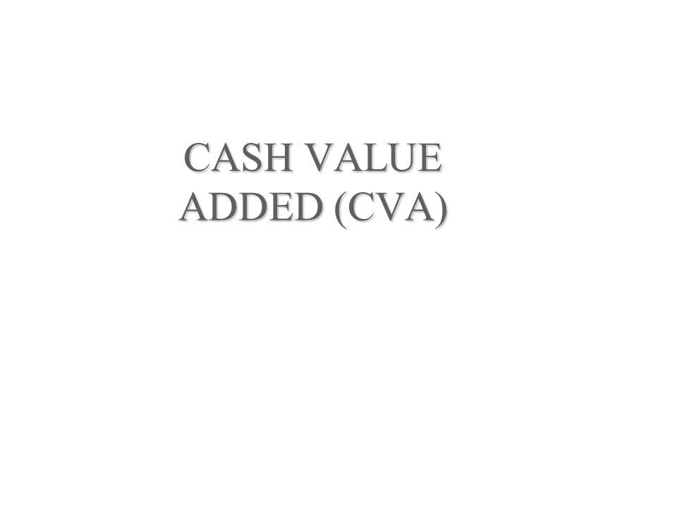 CASH VALUE ADDED (CVA)