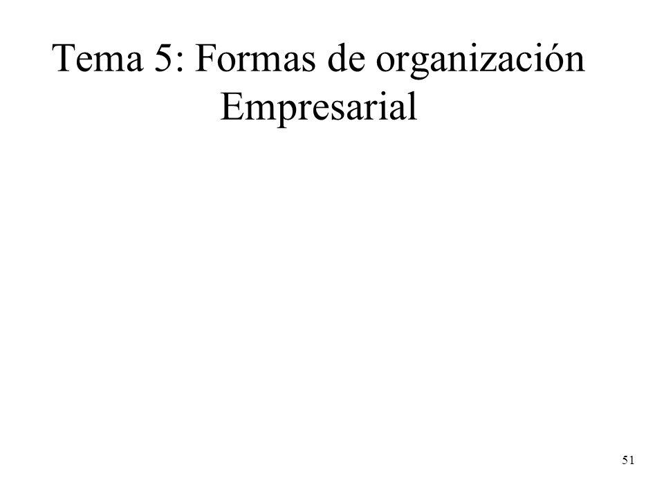 51 Tema 5: Formas de organización Empresarial