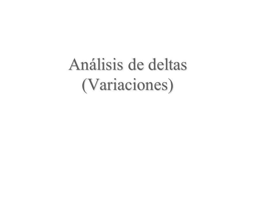 Análisis de deltas (Variaciones)