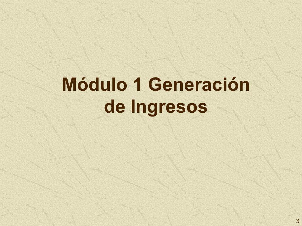 3 Módulo 1 Generación de Ingresos