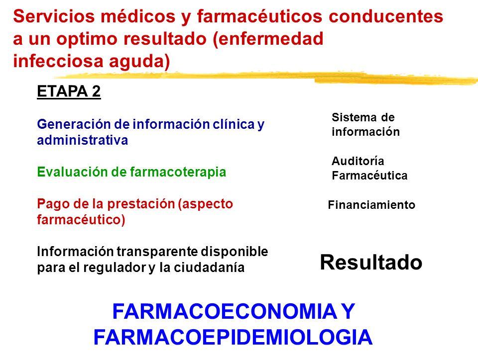 Servicios médicos y farmacéuticos conducentes a un optimo resultado (enfermedad infecciosa aguda) ETAPA 2 Generación de información clínica y administ
