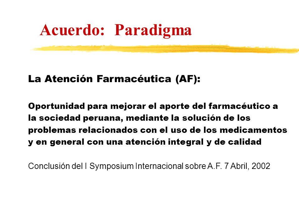 La Atención Farmacéutica (AF): Oportunidad para mejorar el aporte del farmacéutico a la sociedad peruana, mediante la solución de los problemas relaci