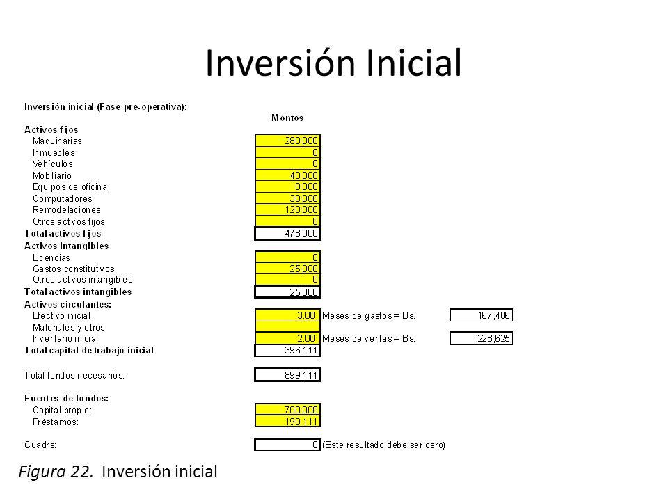 Inversión Inicial Figura 22. Inversión inicial