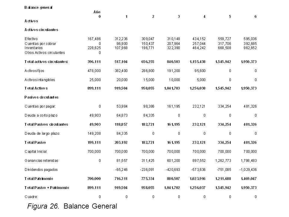 Figura 26. Balance General