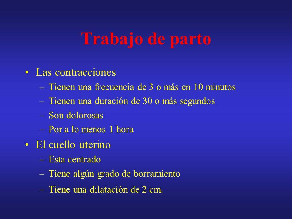 Fase latente 2 4 6 8 10 12 14 Tiempo (horas) Dilatación Cervical (cm) 2 4 6 8 10 Fase activa Secundo periodo Fase de aceleración Máxima pendiente Fase de desaceleración