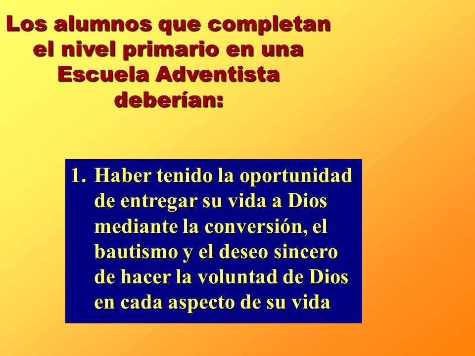 1.Una atmósfera en la cual pueden comprender la voluntad de Dios, entregarle su vida y experimentar el gozo de ayudar a otros. 2.Un programa organizad