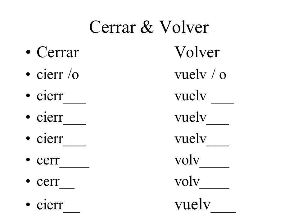 Cerrar & Volver CerrarVolver cierr /ovuelv / o cierr___vuelv ___ cerr____volv____ cerr__volv____ cierr __vuelv___