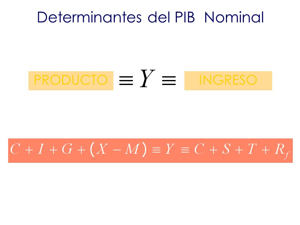 Determinantes del PIB Nominal PRODUCTOINGRESO